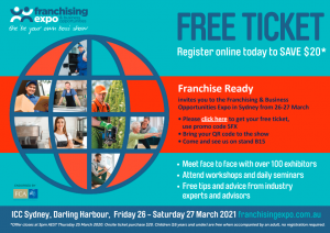 Franchising Expo Free ticket